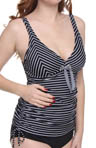 Maidenform Beach Over The Line Lift and Support Tankini Swim Top 6312315