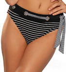 Maidenform Beach Over The Line Laced Hi Waist Swim Bottom 6312363