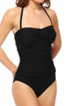 Maidenform Beach Black Tie Affair Control One Piece Swimsuit 6313016