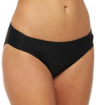 Maidenform Beach Black Tie Affair Shirred Hipster Swim Bottom 6313278