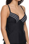 Maidenform Beach Black Tie Affair UW Custom Lift Tankini Swim Top 6313346