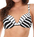 Maidenform Beach Zig Zag Custom Lift Underwire Swim Top 6402102