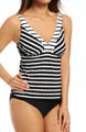 Maidenform Beach Zig Zag Lift & Support Underwire Tankini Swim Top 6402505