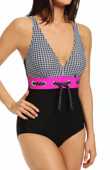 Maidenform Beach Optic Dot One Piece Swimsuit 6403000