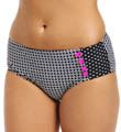 Maidenform Beach Optic Dot Hi Waist Swim Bottom 6403387