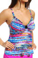 Maidenform Beach Color Spectrum Lift & Support Tankini Swim Top 6405503