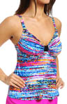 Color Spectrum Lift & Support Tankini Swim Top Image