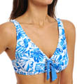 Batik Leaf Lift & Support Underwire Swim Top Image