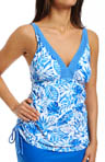 Batik Leaf Lift & Support UW Tankini Swim Top Image
