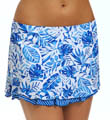 Maidenform Beach Batik Leaf Skirted Swim Bottom 6406581