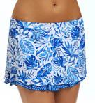 Batik Leaf Skirted Swim Bottom Image