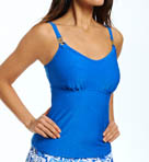 Maidenform Beach Lucky Streak Lift & Support UW Tankini Swim Top 6408504