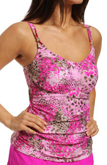 Maidenform Beach Wild Life Custom Lift & Support Tankini Swim Top 6411339