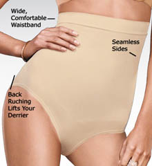 Shiny High Waist Brief Panty