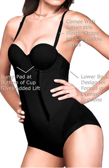 Maidenform - Maidenform 1256 Easy Up Strapless Firm Control Bodybriefer