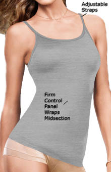 Maidenform - Maidenform 3266 Fat Free Dressing Tank Top