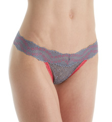 Maidenform One Size for All Classic Rise Thong 40118