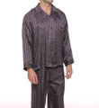 Striped Jacquard Pajama Set Image