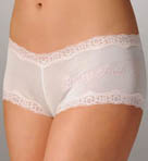 Mary Green Silk Knit Blushing Bride Boyshort Panty LL3EBB