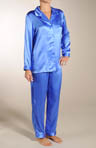 Mary Green Solid Silk Pajamas SB20