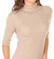 Michael Stars 2x1 Shine Elbow Sleeve Turtleneck Tee 0257