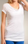 Michael Stars Shine Cap Sleeve Drape Neck Tee 0360
