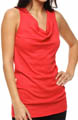 Shine Sleeveless Drape Neck Tank Image