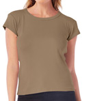 1x1 Cotton Cap Sleeve Crew Neck Tee Image
