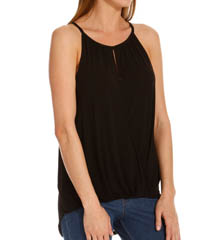 Michael Stars Sleeveless Keyhole High Low Halter Top 2214