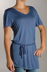 Modal Jersey Short Sleeve Tunic with Belt