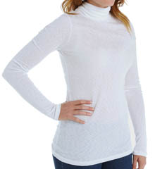 Michael Stars 1x1 Slub Long Sleeve Turtleneck 6129