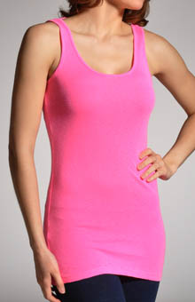 1x1 Slub Scoop Neck Tunic Tank