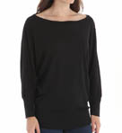 3/4 Sleeve Wide Neck Dolman Top