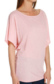Slub Jersey Off the Shoulder Dolman Sleeve