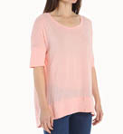 Luxe Slub Elbow Sleeve Scoop Neck Hi-Low Tee Image