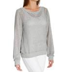 Luxe Mesh L/S Sweatshirt