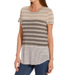 Michael Stars Parisian Stripe Short Sleeve Crew Neck Top 7095