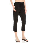 Drawstring Crop Pant with Roll Cuff Image