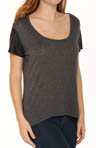 Michael Stars Lambskin Leather Short Sleeve Tee LTR07