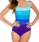 Spectra Band It Colorblock One Piece Swimsuit