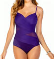 Miraclesuit Net Work Mystify Sheer Wrap One Piece Swimsuit 451165