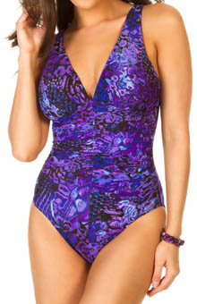 Purple Haze Sonatina Shirred One Piece Swimsuit