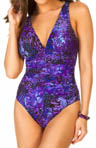 Miraclesuit Purple Haze Sonatina Shirred One Piece Swimsuit 467731