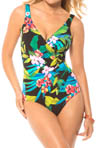 Night Life Oceanus Surplice One Piece Swimsuit