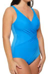 Miraclesuit Fashion Figures Shirred One Piece Swimsuit 469188D