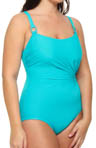 Lisa Jane Double Strap One Piece Swimsuit