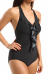 Miraclesuit Pin Point Isabella Ruffle Front One Piece Swimsuit 470985