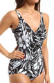 Miraclesuit White Shadow Oceanus Shirred One Piece Swimsuit 470988