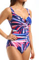 Frond-Do! Escape Side Shirred One Piece Swimsuit Image