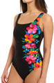 Aloha Gardens Sideswipe One Piece Swimsuit Image